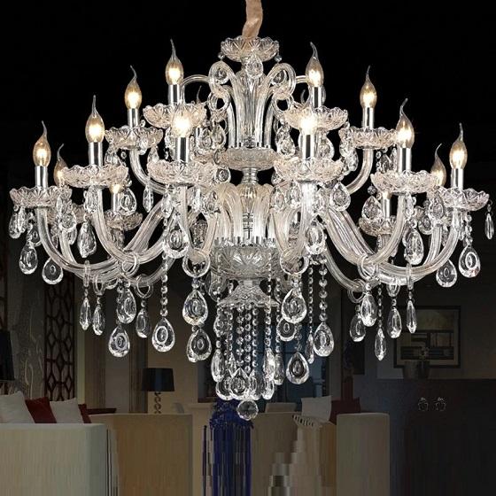 żyrandol glamur - kryształowy